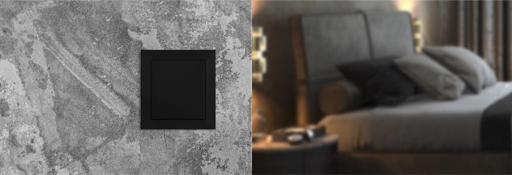 Gniazdo ssące Slim zamontowane na ścianie